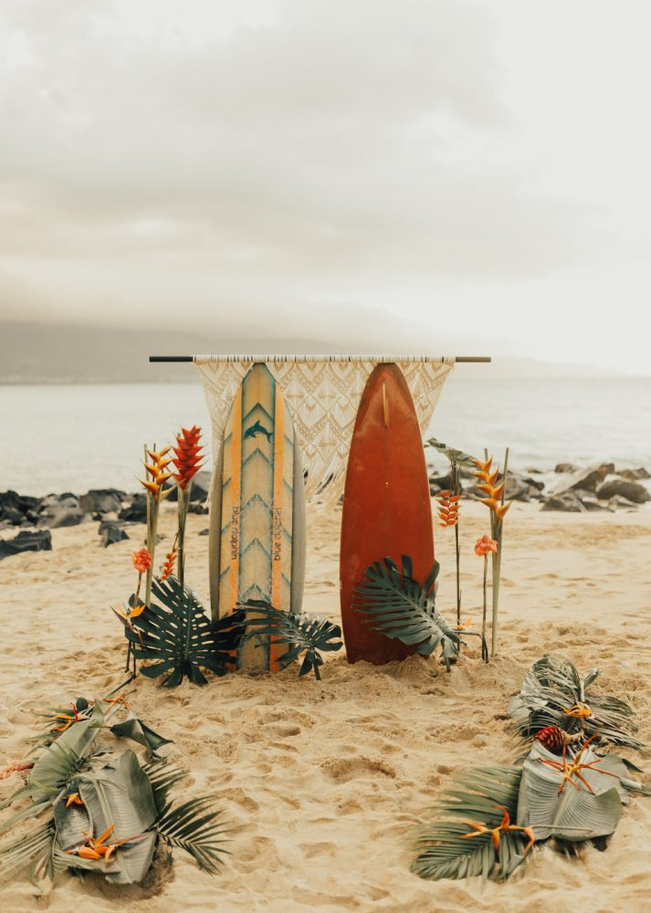 altar boda en playa hawaii